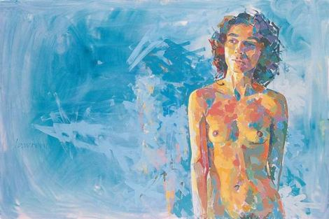 "Lawrence Buttigieg, ""Nude XVI"", 2002, 80 x 120cm, oil on canvas, private collection"