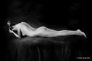 Francesca Romoli lying down
